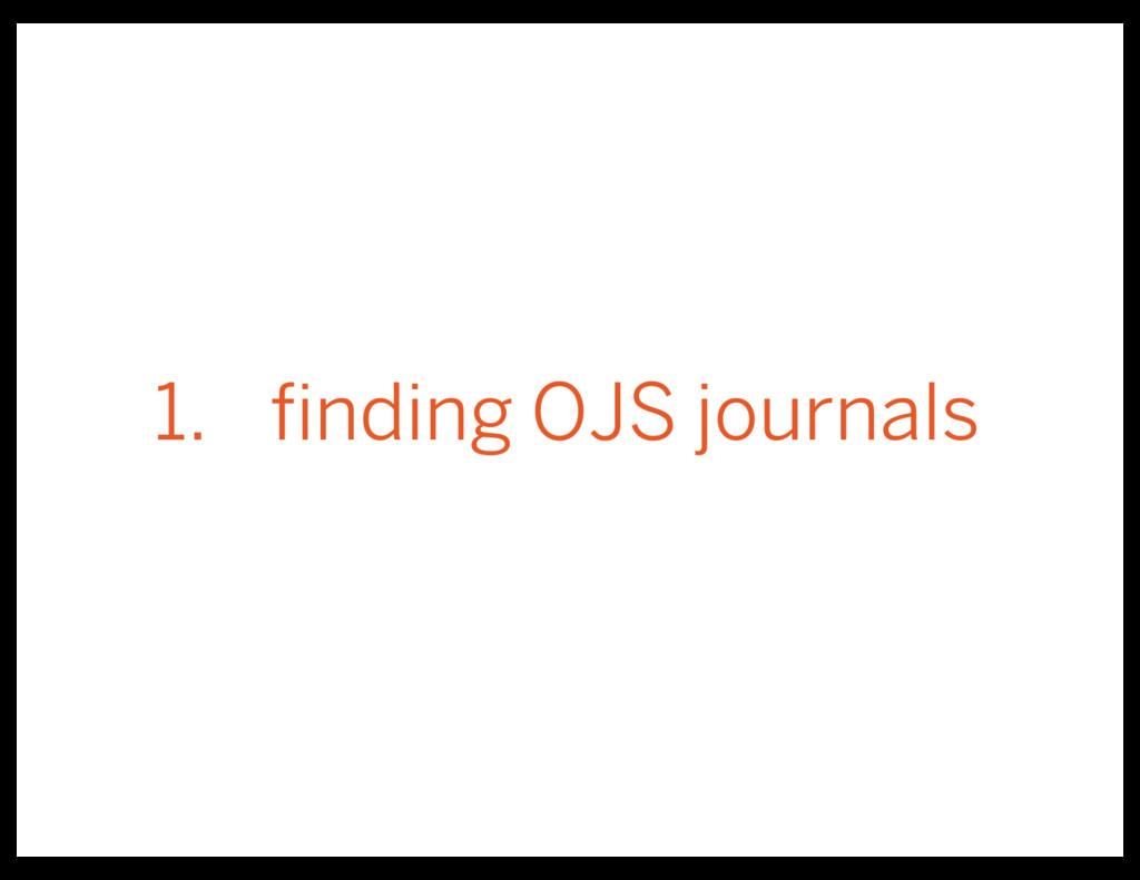 1. finding OJS journals