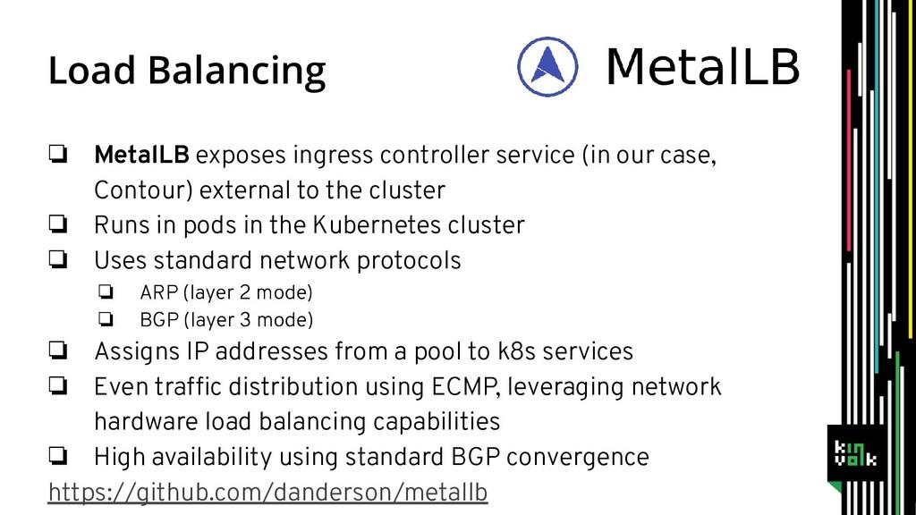 ❏ MetalLB exposes ingress controller service (i...