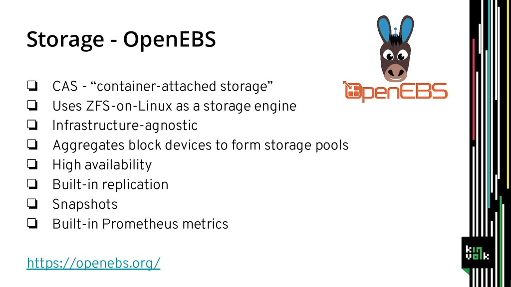"""Storage - OpenEBS ❏ CAS - """"container-attached s..."""