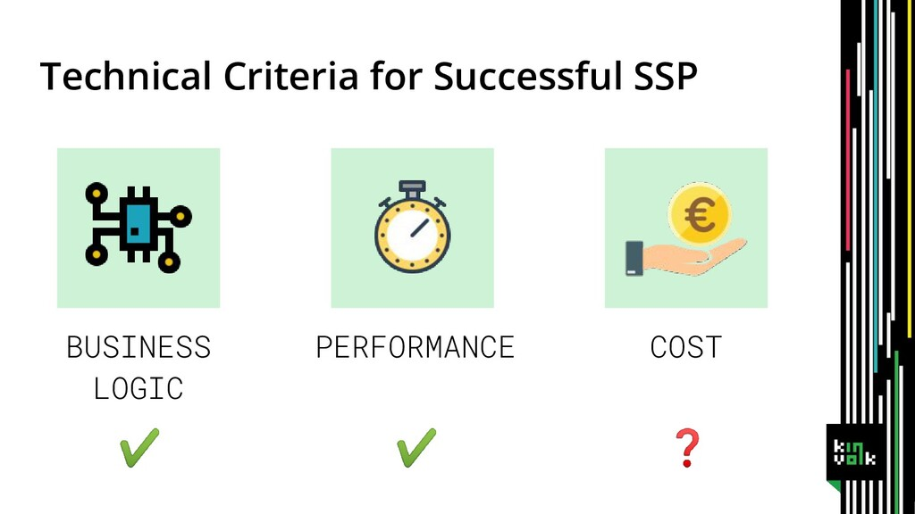 Technical Criteria for Successful SSP BUSINESS ...