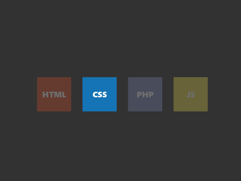 HTML CSS PHP JS