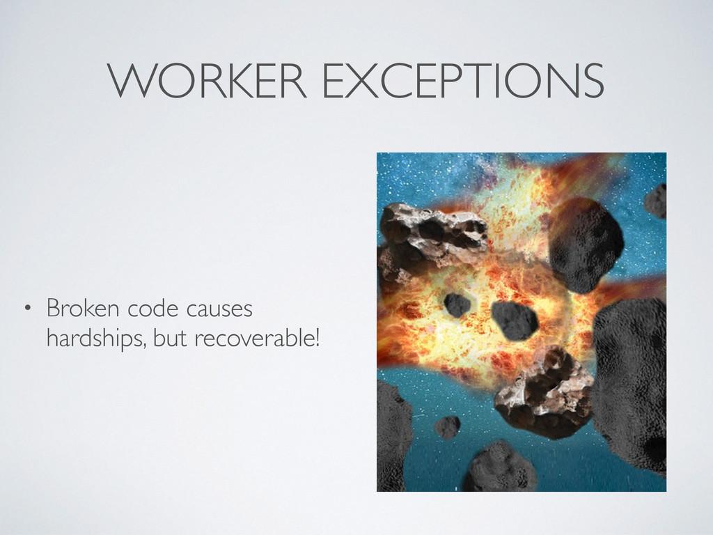 WORKER EXCEPTIONS • Broken code causes hardship...
