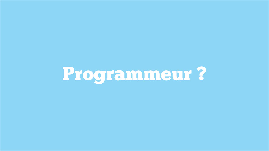 Programmeur ?