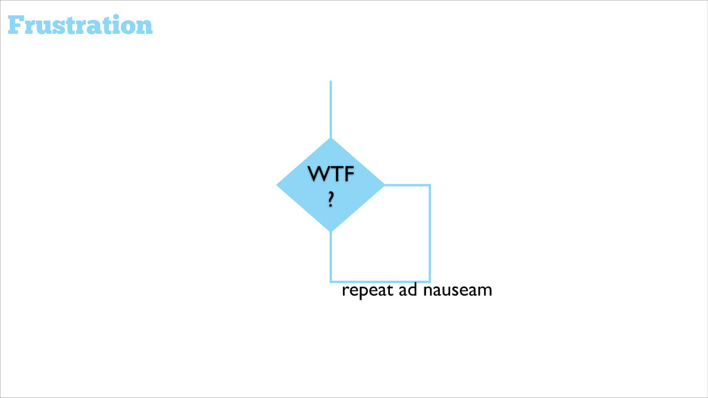 WTF ? repeat ad nauseam Frustration
