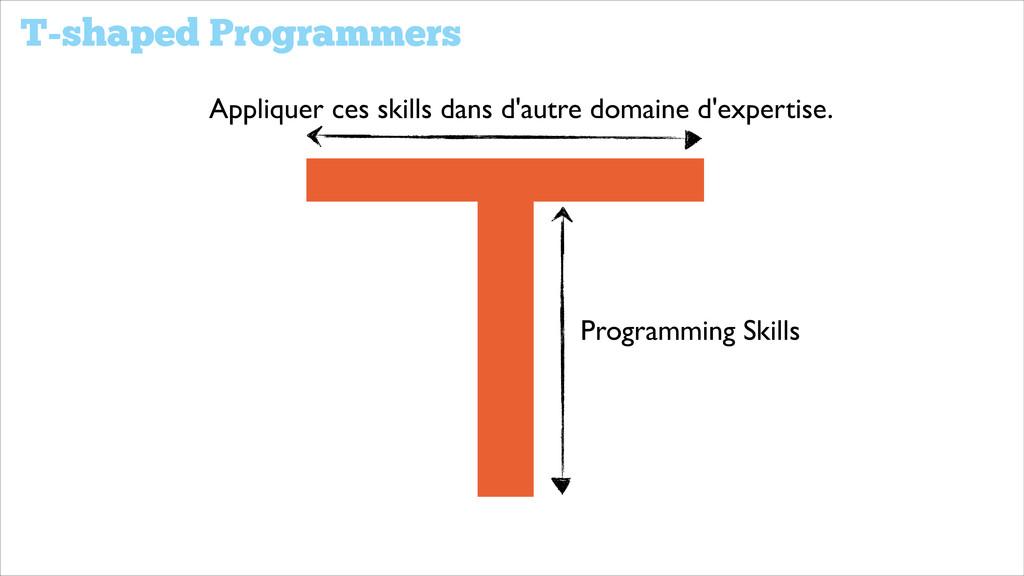 T-shaped Programmers Programming Skills Appliqu...
