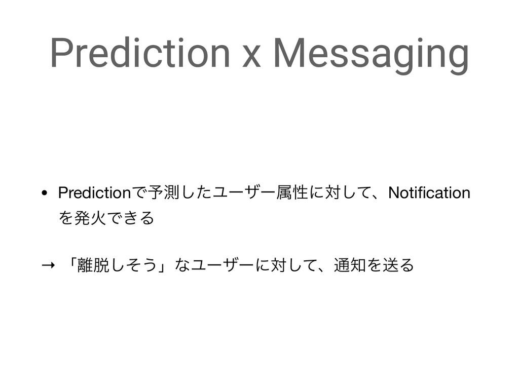 Prediction x Messaging • PredictionͰ༧ଌͨ͠Ϣʔβʔଐੑʹ...
