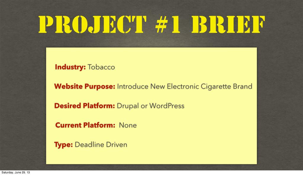 Text Industry: Tobacco Website Purpose: Introdu...