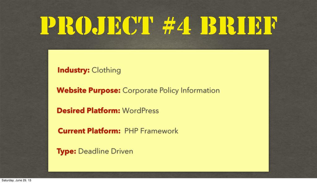 Text Industry: Clothing Website Purpose: Corpor...