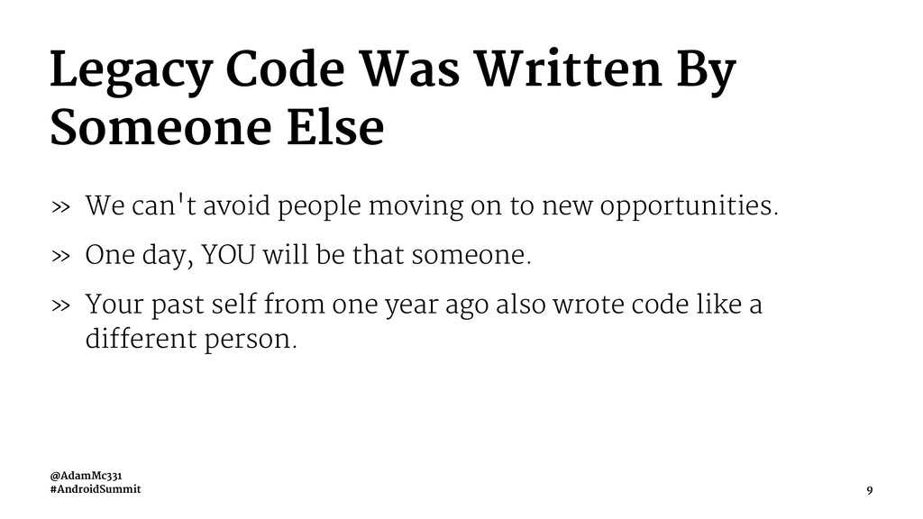Legacy Code Was Written By Someone Else » We ca...