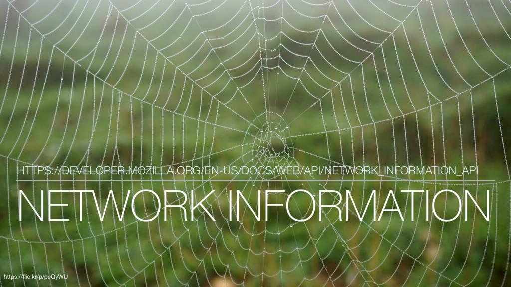 NETWORK INFORMATION HTTPS://DEVELOPER.MOZILLA.O...