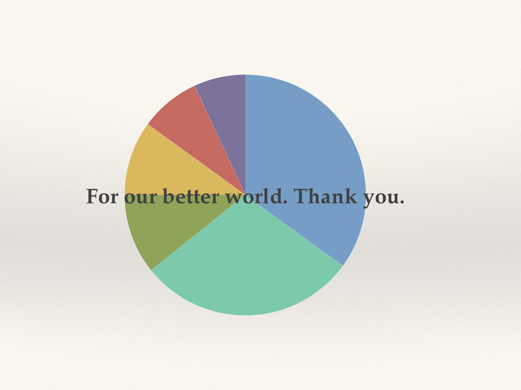 For our better world. Thank you.
