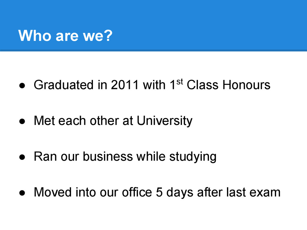 ● Graduated in 2011 with 1st Class Honours ● Me...