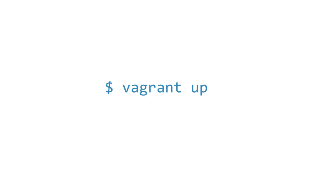 $ vagrant up