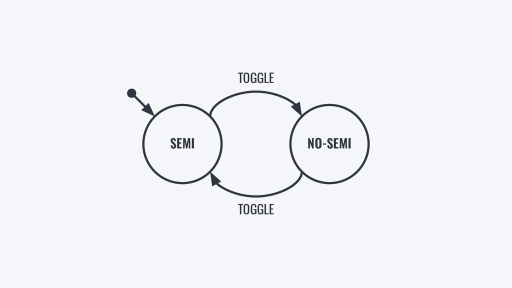 SEMI NO-SEMI TOGGLE TOGGLE