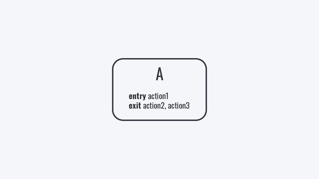 A entry action1 exit action2, action3