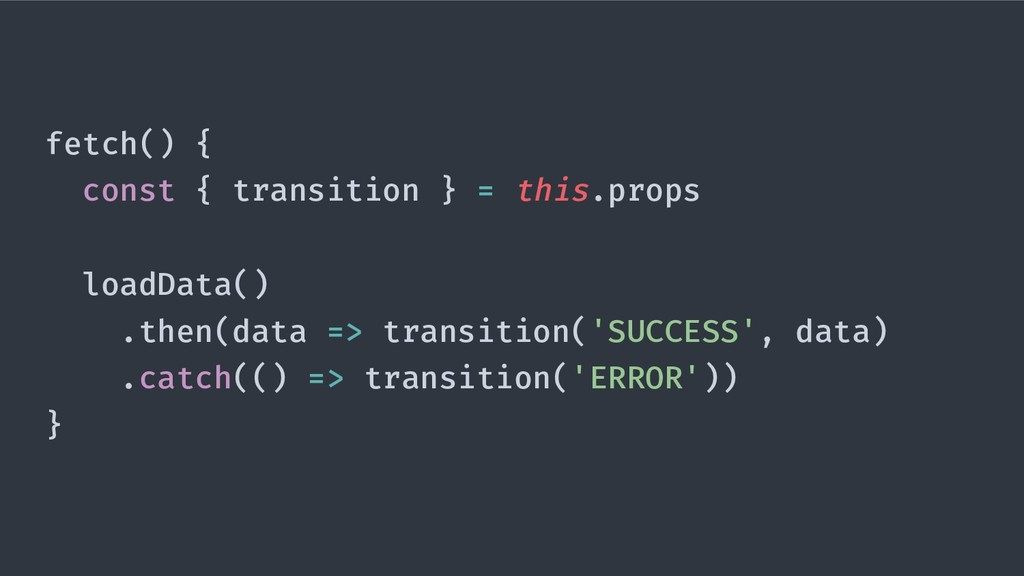 fetch() { const { transition } = this.props loa...
