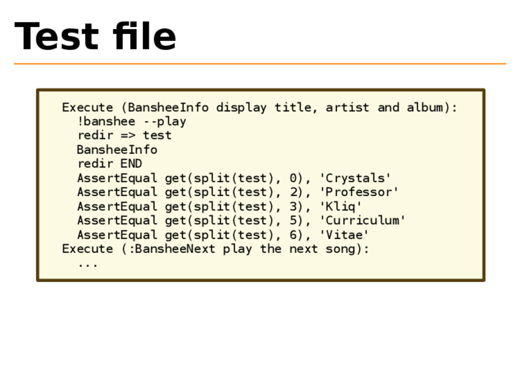 Test file Execute (BansheeInfo display title, ar...