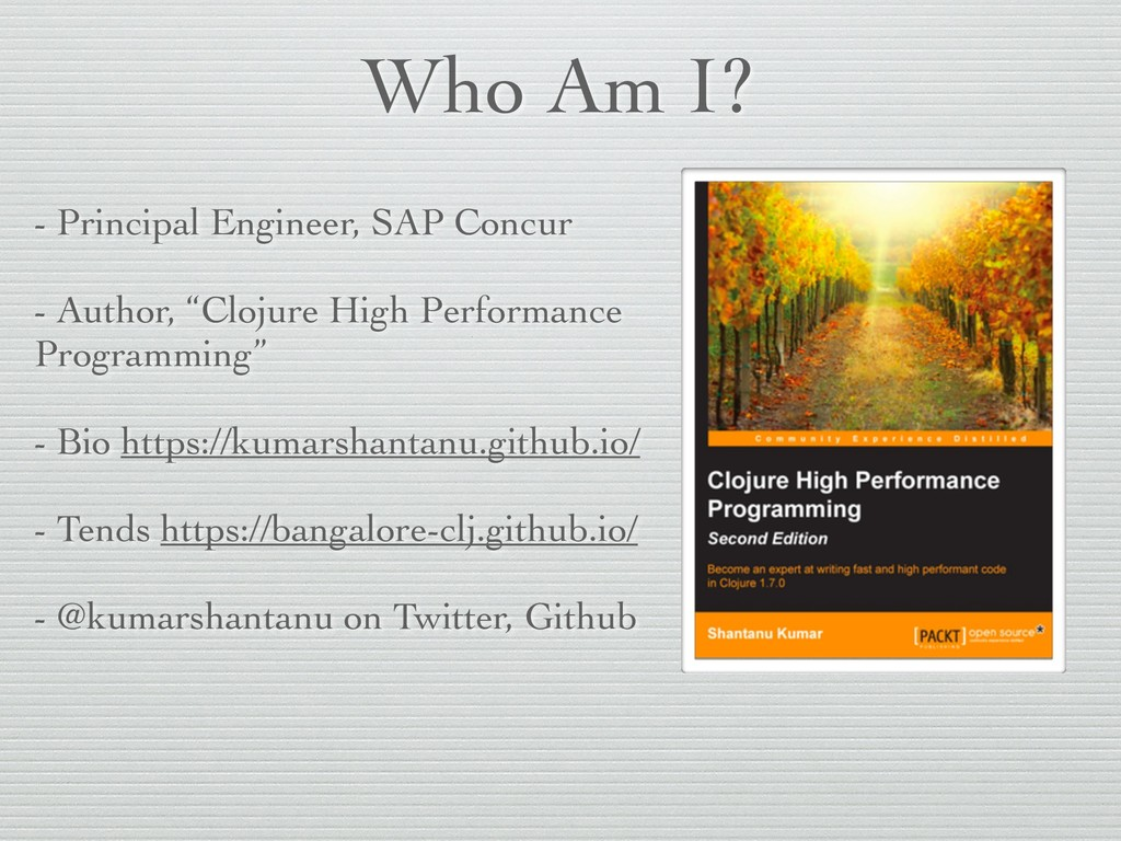 Who Am I? - Principal Engineer, SAP Concur - Au...