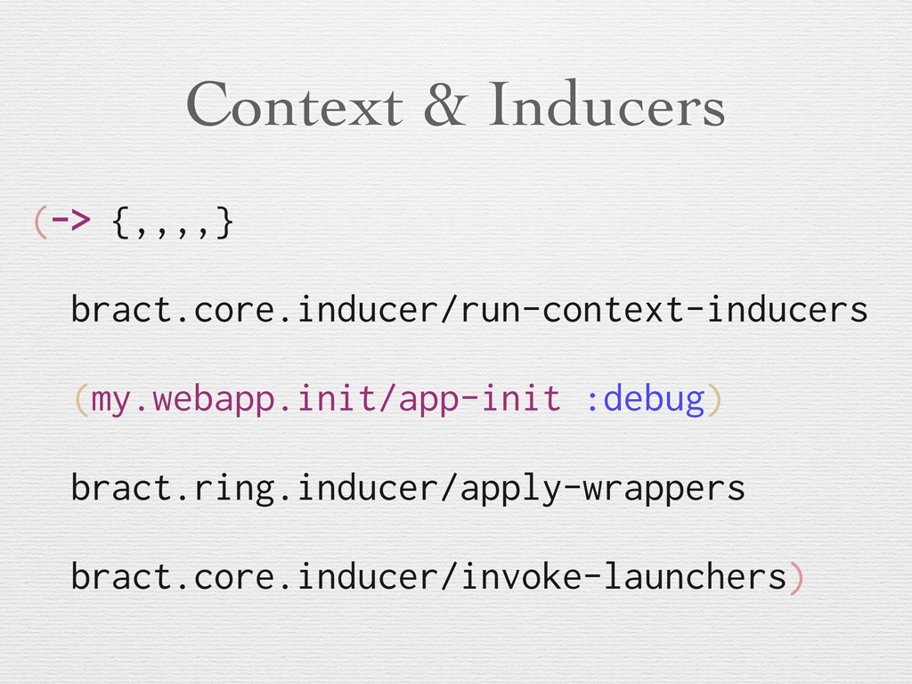 Context & Inducers (-> {,,,,} bract.core.induce...