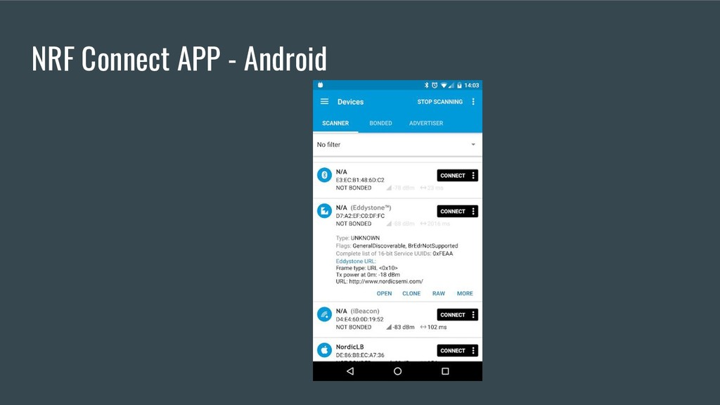 NRF Connect APP - Android