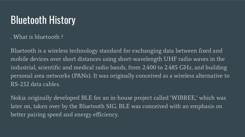 Bluetooth History . What is bluetooth ? Bluetoo...
