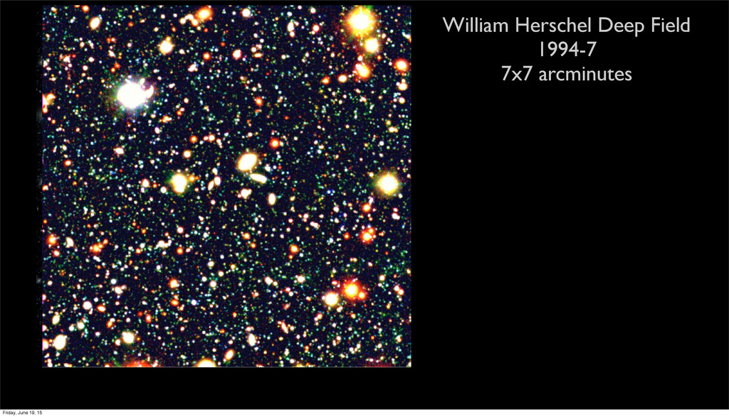 William Herschel Deep Field 1994-7 7x7 arcminut...