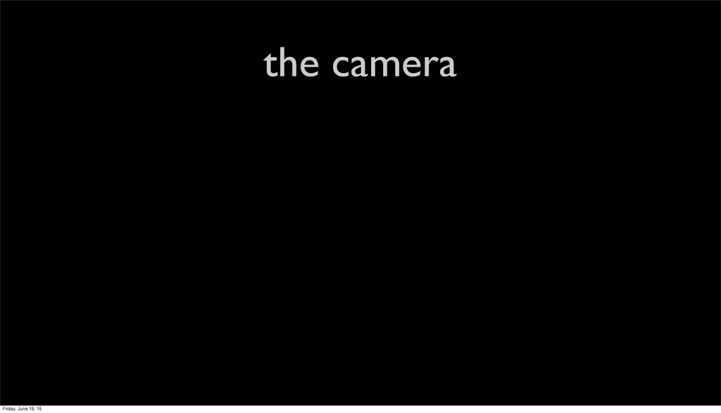 the camera Friday, June 19, 15