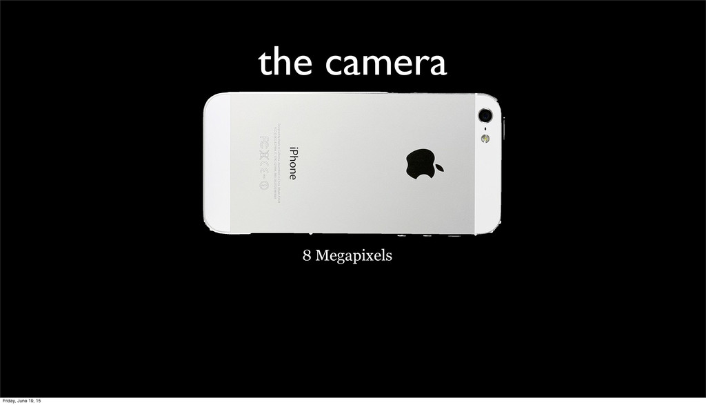 the camera 8 Megapixels Friday, June 19, 15