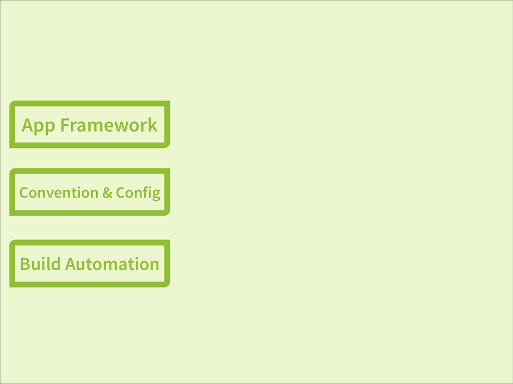 App Framework Convention & Config Build Automat...