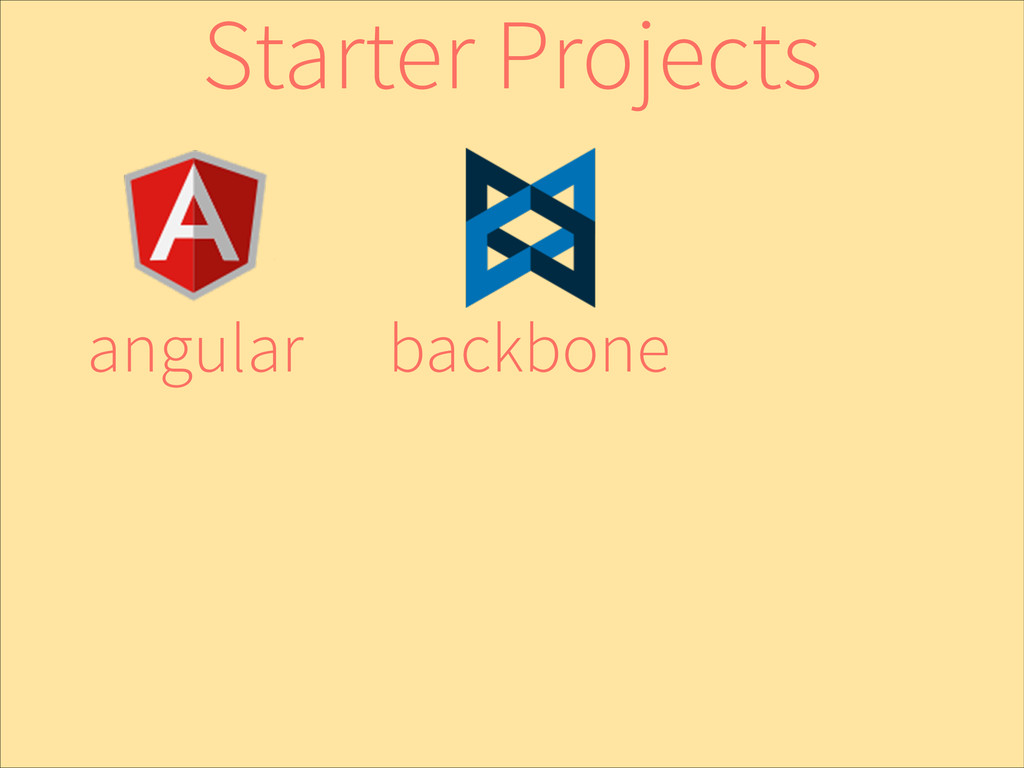 backbone angular Starter Projects