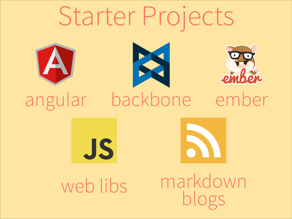 ember backbone angular web libs markdown blogs ...