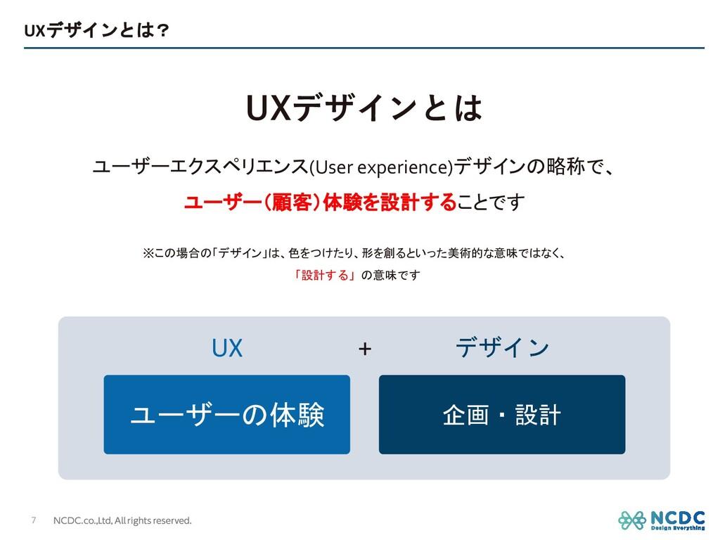 UXデザインとは? 7 ユーザーエクスペリエンス(User experience)デザインの略...