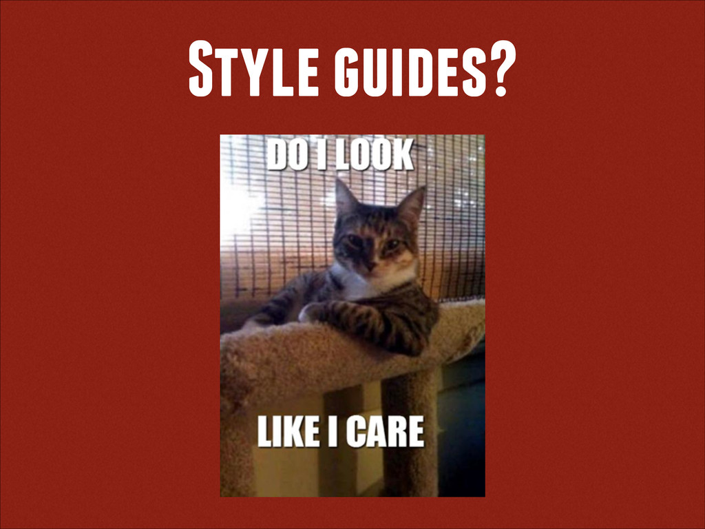 Style guides?