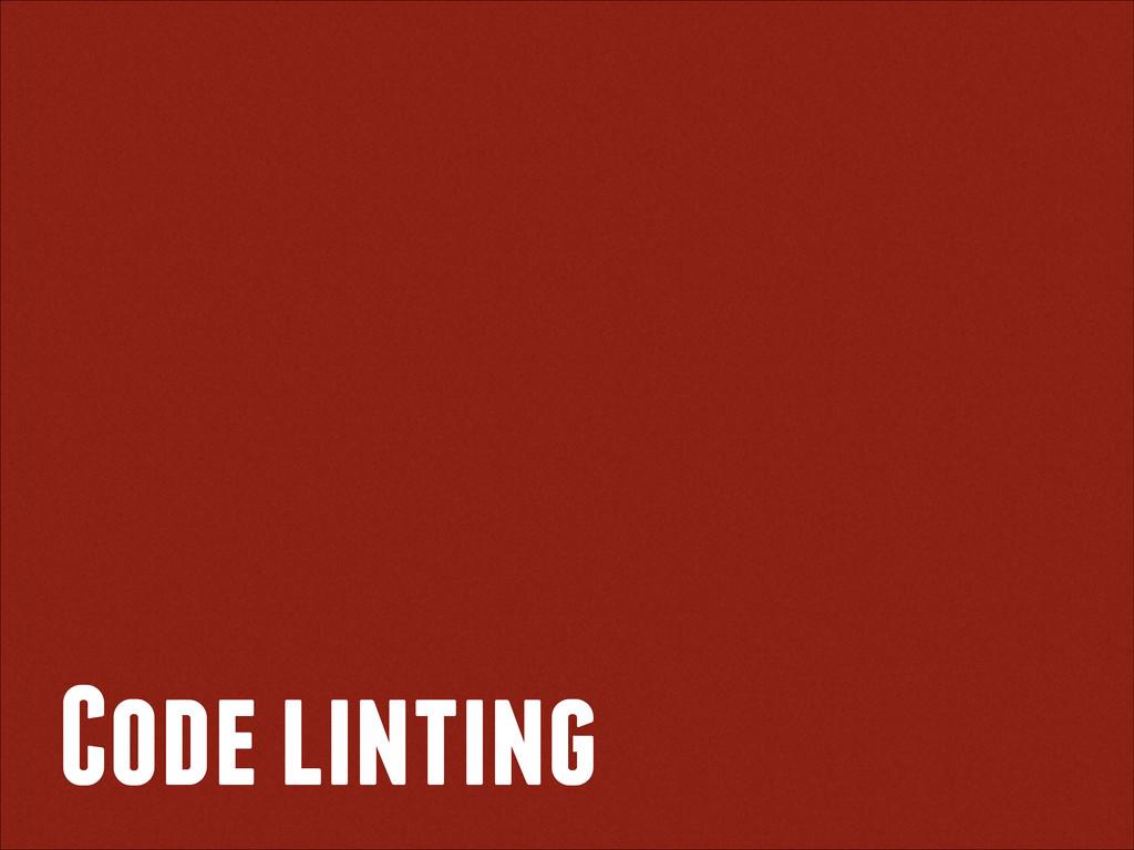 Code linting