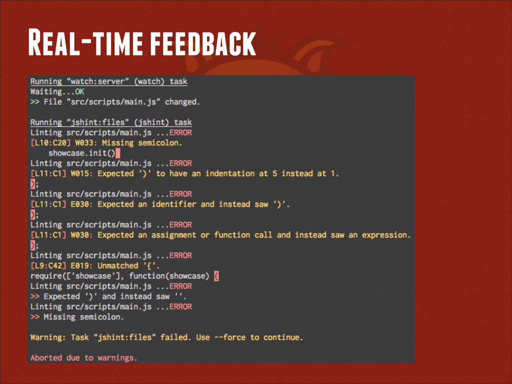Real-time feedback