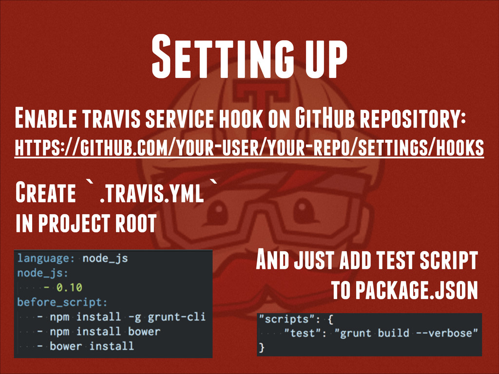 Setting up Enable travis service hook on GitHub...