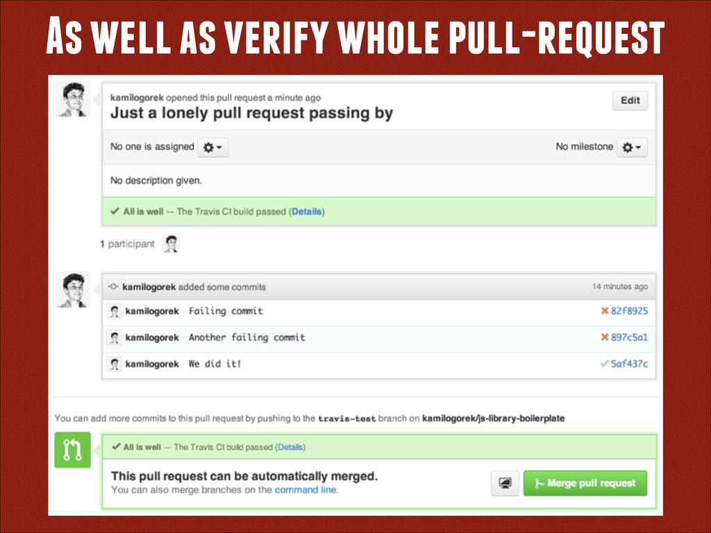 As well as verify whole pull-request