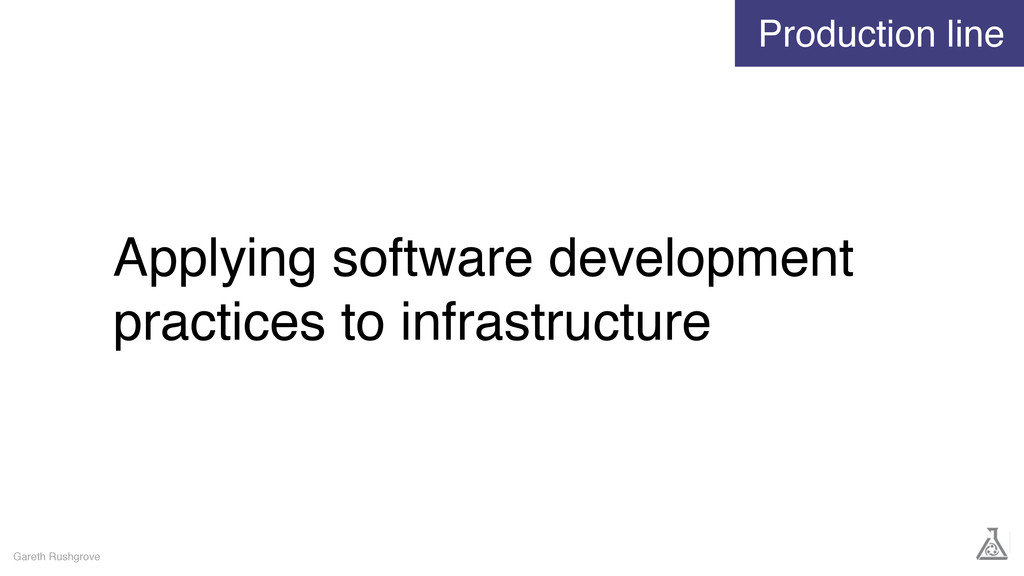 Applying software development practices to infr...