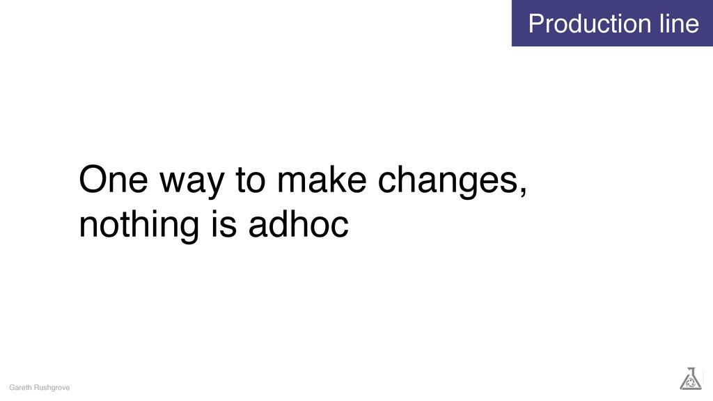 One way to make changes, nothing is adhoc Garet...