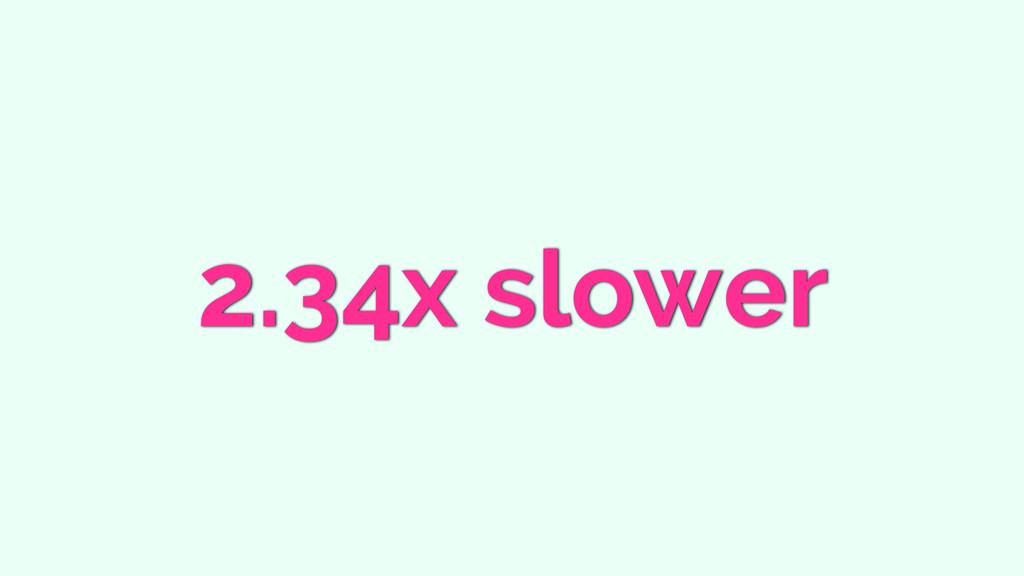 2.34x slower