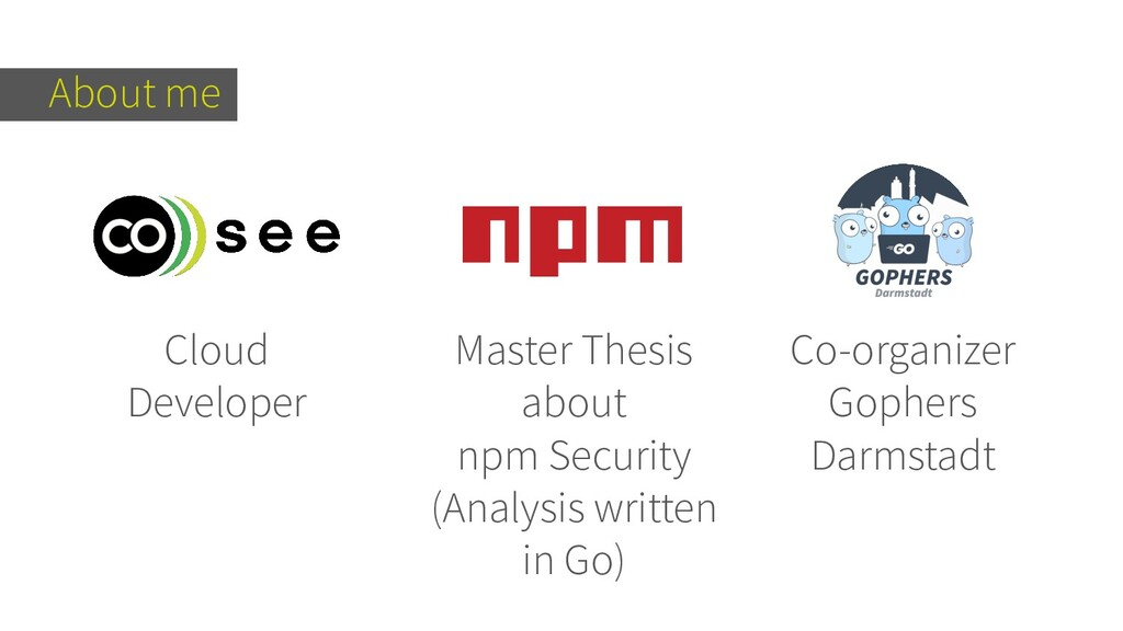 About me Cloud Developer Master Thesis about np...