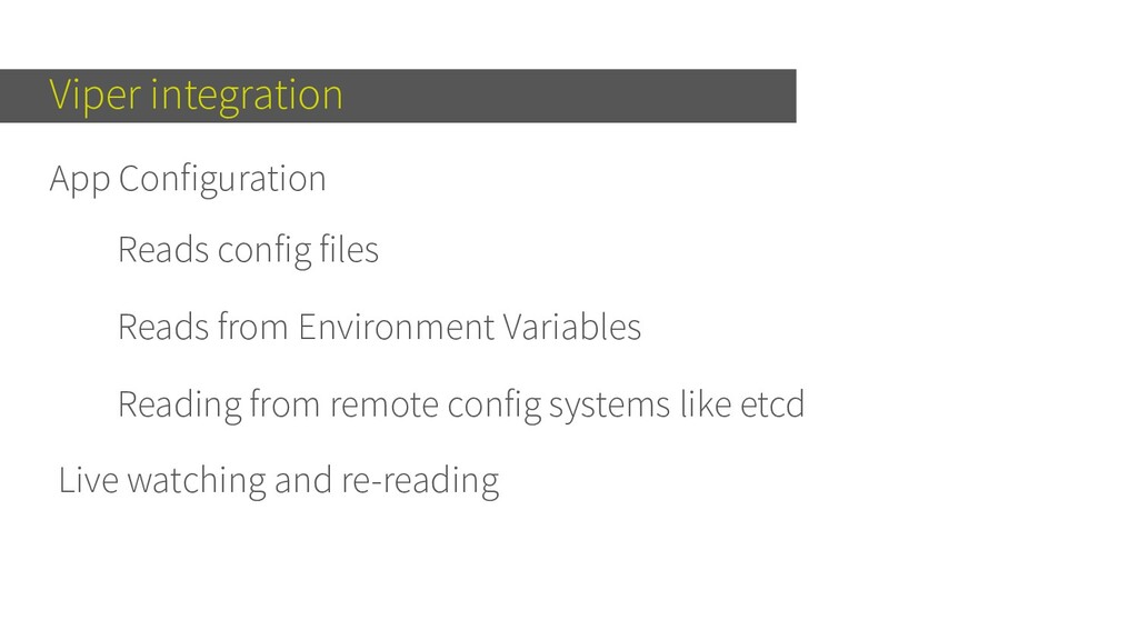 Viper integration App Configuration Reads confi...