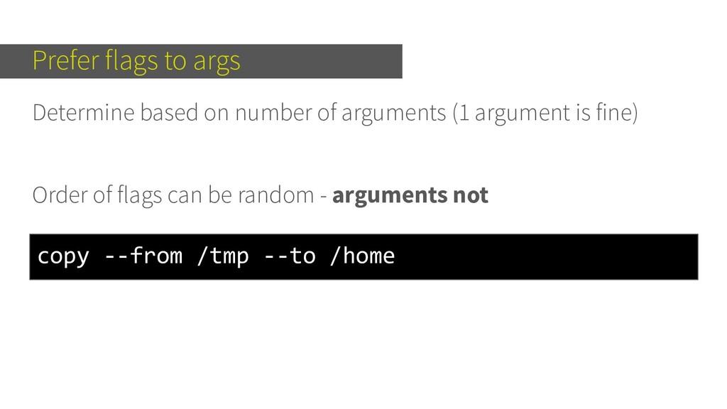Determine based on number of arguments (1 argum...