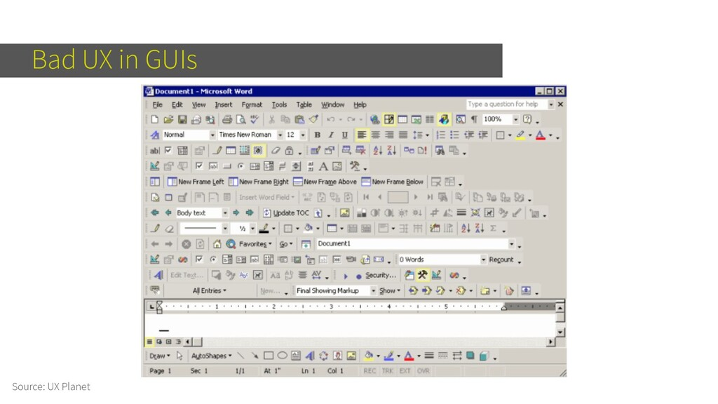 Bad UX in GUIs Source: UX Planet
