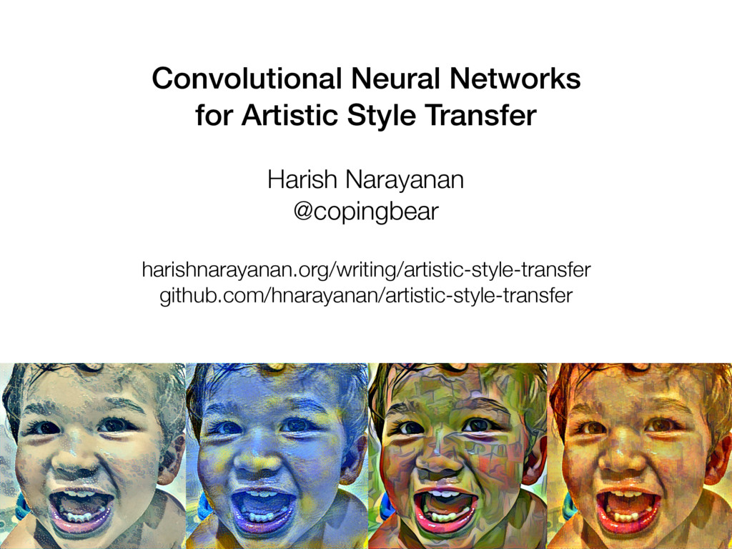 Convolutional Neural Networks for Artistic Styl...