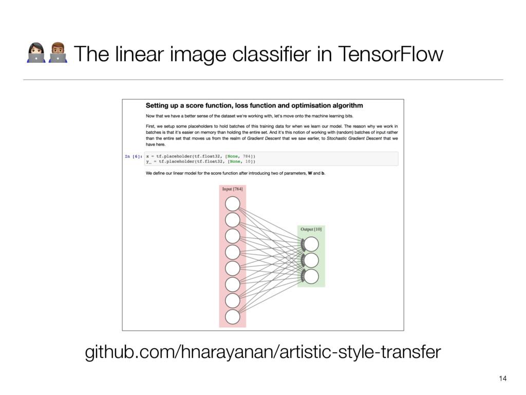 """""""# The linear image classifier in TensorFlow 14 ..."""