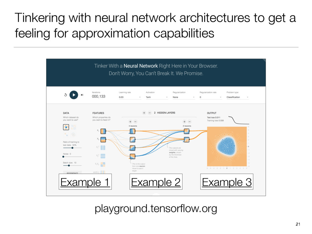 Tinkering with neural network architectures to ...