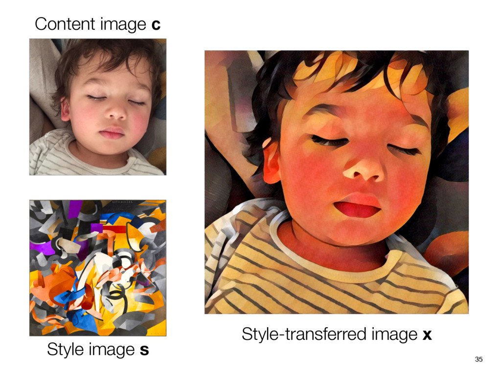 35 Content image c Style image s Style-transfer...
