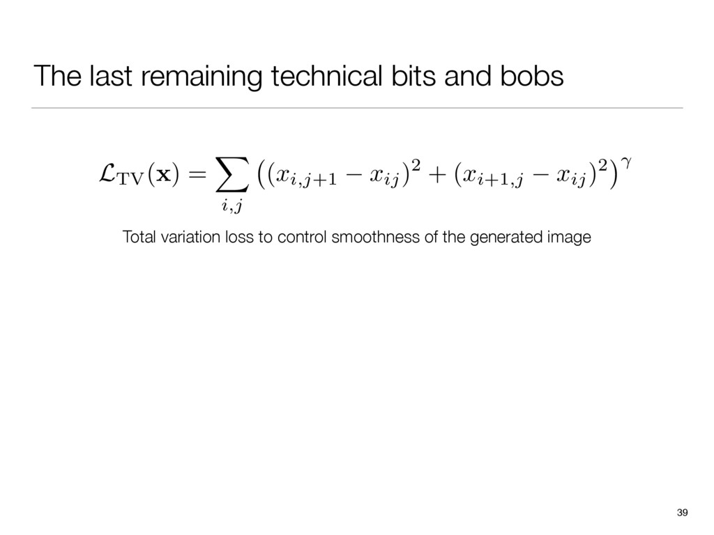 The last remaining technical bits and bobs 39 T...