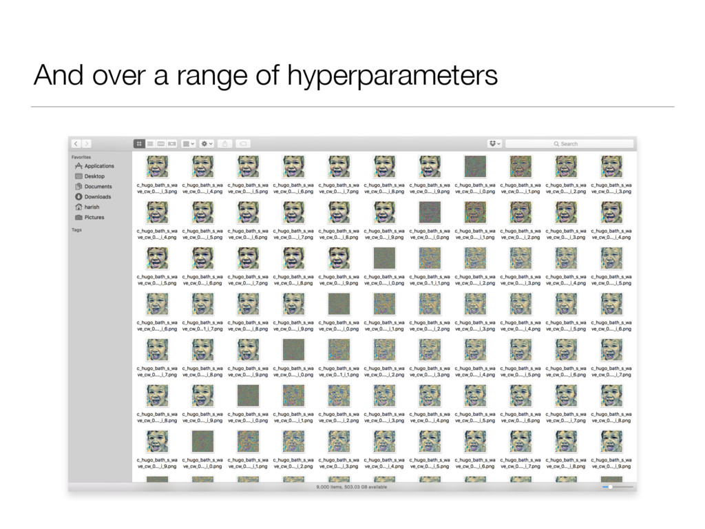 And over a range of hyperparameters